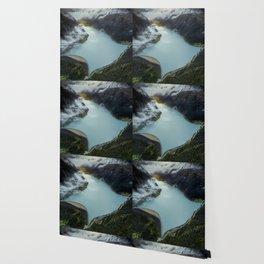 Hidden lake in Austrian Alps Wallpaper