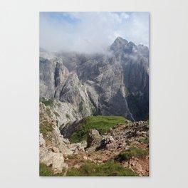 Dolomite peaks Canvas Print