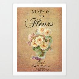 Maison des Fleurs Art Print