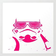 Pink Trooper Art Print
