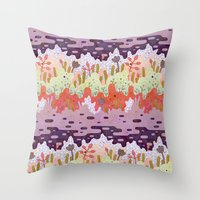 crystal Throw Pillows featuring Crystal Forest by LordofMasks