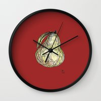 pear Wall Clocks featuring Pear by Ursula Rodgers