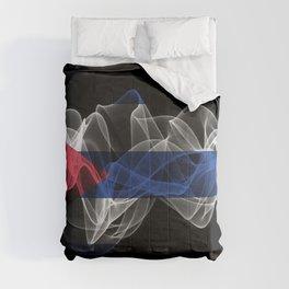 Cuba Smoke Flag on Black Background, Cuba flag Comforters