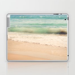 beach. Sea Glass ocean wave photograph. Laptop & iPad Skin