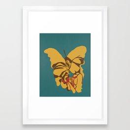 Abstract Butterflies #2 Framed Art Print