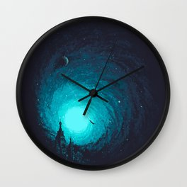 Calm Night To Fly Wall Clock