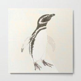 Penguin watercolour Metal Print