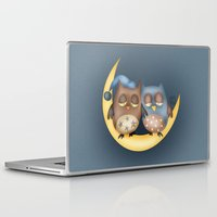 owls Laptop & iPad Skins featuring Owls by Catru