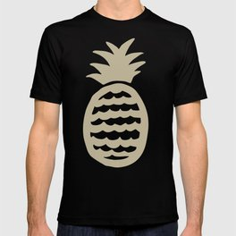 Golden pineapple pattern T-shirt