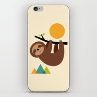 cartoons iPhone & iPod Skins featuring Keep Calm And Live Slow by Andy Westface