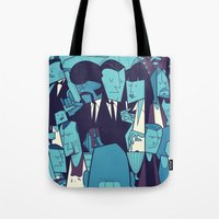 pulp fiction Tote Bags featuring PULP FICTION variant by Ale Giorgini