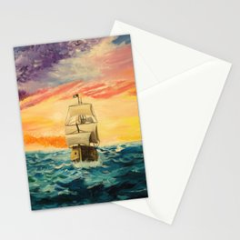 Pirating by Sunset Stationery Cards