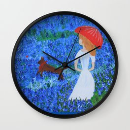Bluebonnet Hills Wall Clock