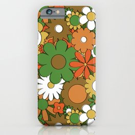 Funky Daisy Floral in Harvest iPhone Case