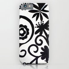 doiley flowers - white Slim Case iPhone 6s