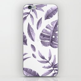 Purple leaves iPhone Skin