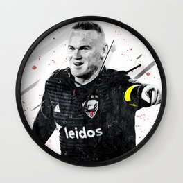 Rooney Football Print Football Wall Art Football Poster Football Wall Decor Poster Wall Clock