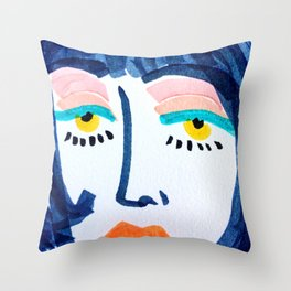 Mod Girl Throw Pillow