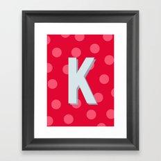 K is for Kindness Framed Art Print