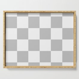 Gray & White Checkerboard Serving Tray