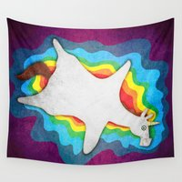 rug Wall Tapestries featuring Unicorn Rug by That's So Unicorny