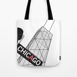 Chicago's John Hancock Center Building Tote Bag