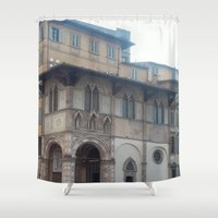 italy Shower Curtains featuring Italy by NekoYuki