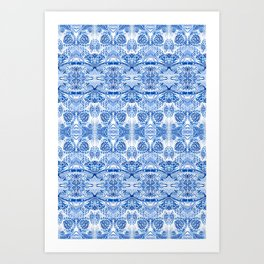 Blue on white dubble exposed Art Print