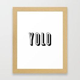 Yolo Framed Art Print