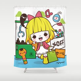 Kokeshi Girl Shower Curtain
