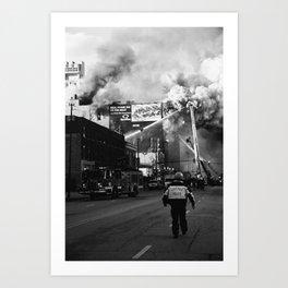 The Chicago Fire Art Print