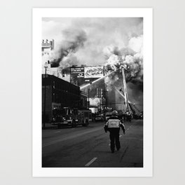 The Chicago Fire Art Print