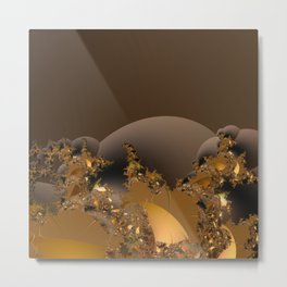 Golden Taste of Chocolates Metal Print