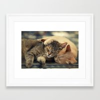 friendship Framed Art Prints featuring Friendship by Ellen van Deelen