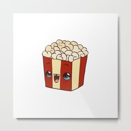 cute popcorn Metal Print