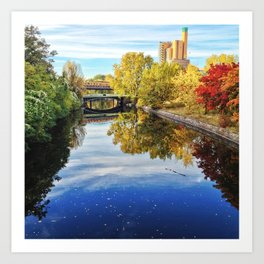 the canal Art Print