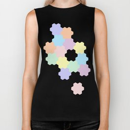 Colorful pastel geometric pattern Biker Tank