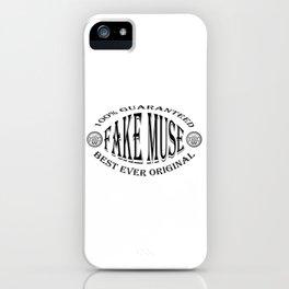 Fake Muse badge (black) iPhone Case