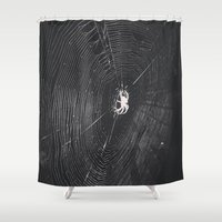 spider Shower Curtains featuring Spider by LadyJennD