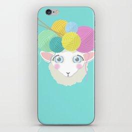 Sheepy Yarn Head iPhone Skin