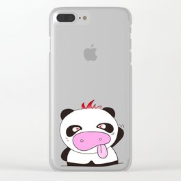 Pig Red 2 Clear iPhone Case