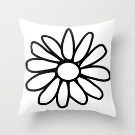 Imperfect Daisy Outline Throw Pillow
