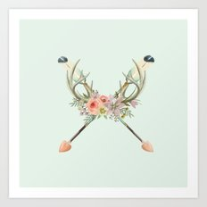 arrows and flowers Art Print