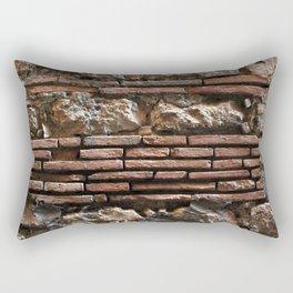 Ancient Mix-media Wall Rectangular Pillow