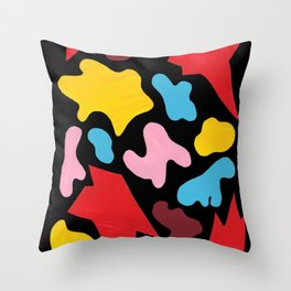 The Explosion of Emotions Original Modern Art Collage Throw Pillow