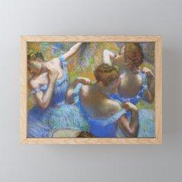"""Edgar Degas """"Dancers in blue"""" Framed Mini Art Print"""