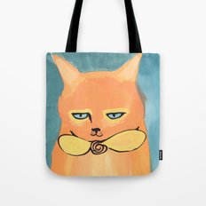 Orange Cat Tote Bag