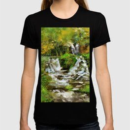 Waterfall Illustration  T-shirt