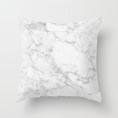 White Marble Edition 2 Throw Pillow