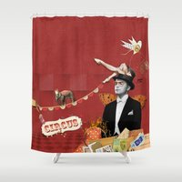 circus Shower Curtains featuring Circus by Poua stories